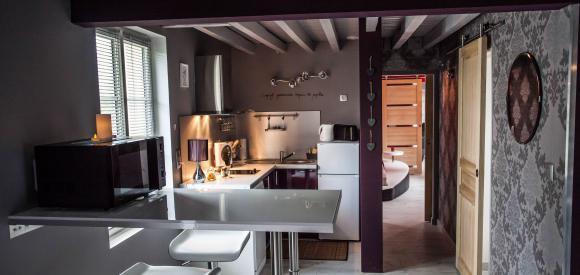 Gîte romantique pour deux avec sauna et jacuzzi privatif, Le Bosc Renoult