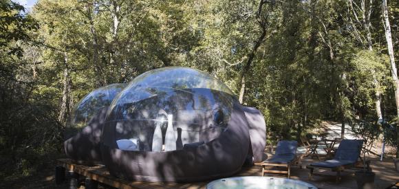 Dormir dans une bulle avec jacuzzi privatif entre Bordeaux et Toulouse