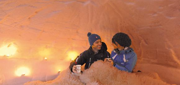 Dormir dans un véritable igloo, au dessus d'Annecy
