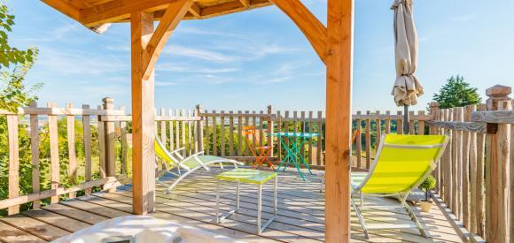 Cabane insolite pour deux piscine et terrasse avec vue, Clairac