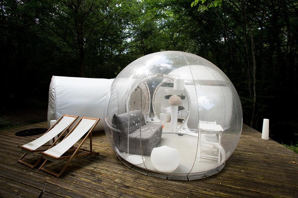bulle insolite avec terrasse proche de bordeaux introuvable. Black Bedroom Furniture Sets. Home Design Ideas
