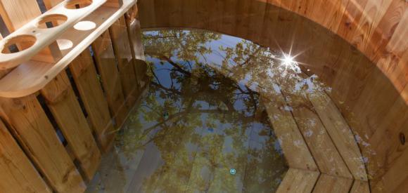 Cabane romantique pour deux et bain norvégien et sauna, Labastide-de-Penne