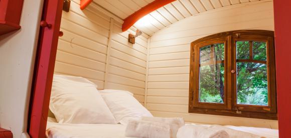 Dormir dans une Roulotte Tzigane, près de Bordeaux