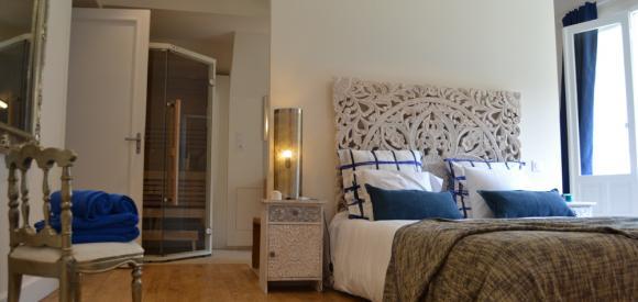 Jolie chambre avec hammam et sauna privé, proche du Mont St Michel