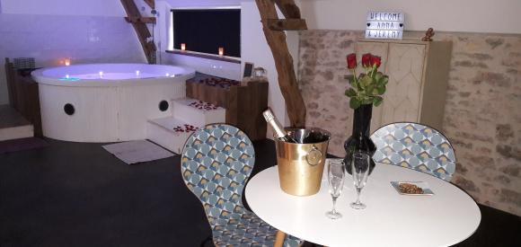Suite avec jacuzzi privatif, proche Rocamadour et Padirac