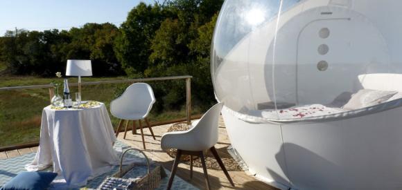 Dormir dans une bulle dans un cadre d'exception, au coeur du Lot